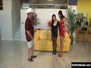 Max, Ange Venus And Layla Rivera Are Performing In This Ffm, Hardcore Threesome.