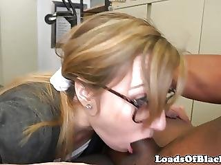 Gagging Spex Amateur Assfucked By Black Agent