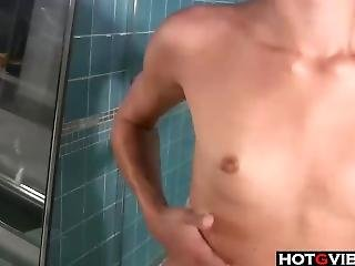 Skinny Brunette Solo In The Hottub