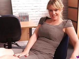 British Blonde Office Joi