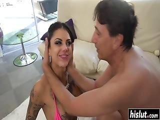 anal, babe, biknini, brunette, sæd, hardcore, milf, oral, squirt, tattovering