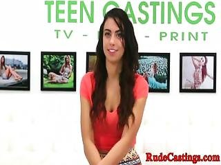 Rough Casting Audition For Pussyfucked Teen
