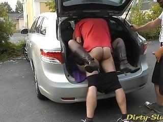 Dirty Slut Creampie Gangbang At The Rest Aera