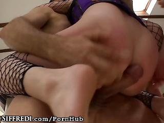 Roccosiffredi 2 Cocks Ravage Her Hairy Holes