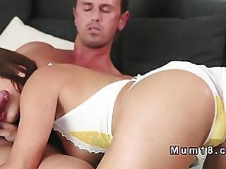 Milf In Lingerie Fucks Till Ass Cumshot