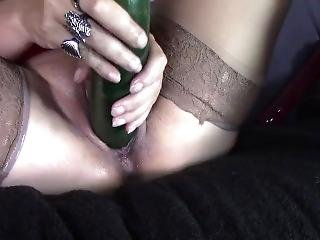 Sexy Latina Milf Masterbating With Cumcumber In Her Hot Creamy Wet Pussy