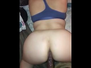 Thick White Girl Creams On Cock