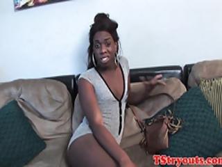 Casting Black Teen Stroking Her Huge Wang