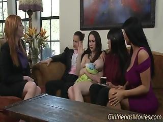 Lesbian Priest Tastes Vag
