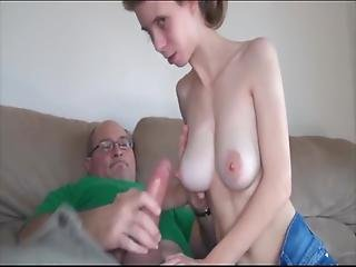 Saggy Tit Teen Sucks And Fucks Uncle