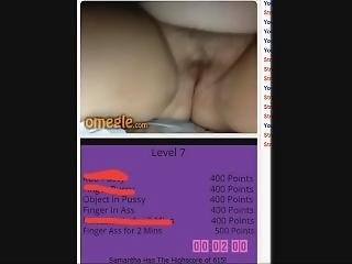 Beautiful Chubby Teen Plays The Omegle Game