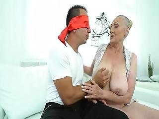 Granny With Big Boobs Gets Sucked And Fucked By Her Son In Law