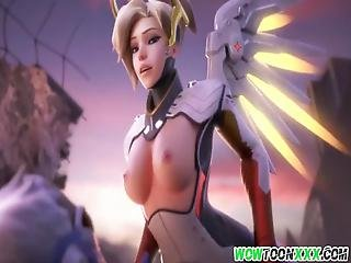 Horny Overwatch Heroes Getting That Cock Doze In Their Asses And Pussies, Watch Them Get Hammered Well Enjoy Friends!