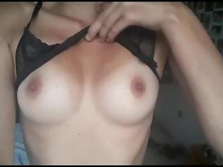 My Cute Tits And Bikini Tan Lines Revealing Under See Through Bra Lingerie