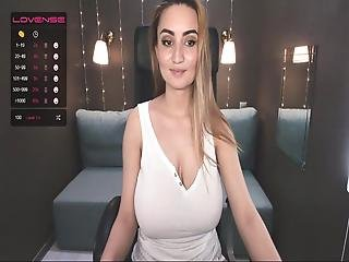 Webcam Girl With Big, Shaggy Tits