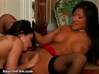 Asian Sluts Lick Pussy