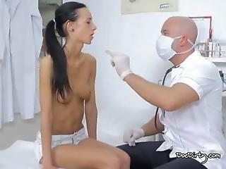 Doctor Makes Sure Martinas Tits Have No Lumps