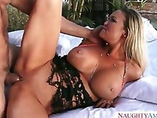 Big Breasted Cowgirl Abbey Brooks In Hat And Boots Has Sex