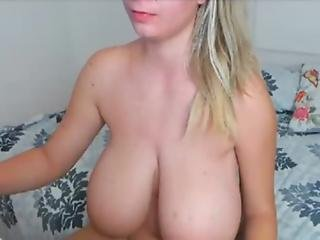 Blonde With Big Tits And Hairy Pussy On 123freecams.com