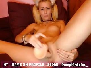Amateur, Blonde, Dildo, Fucking, Orgasm, Shy, Squirt, Toys, Webcam