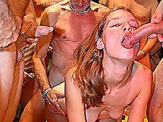 Extreme German Gangbang Fuck Orgy