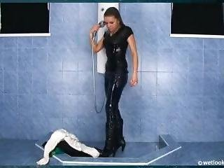Girl In Shower Fully Clothed