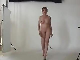 British Milf Walks Around Naked