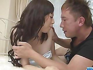 Ayane Okura Looks Eager To Swallow Jizz After Proper Sex