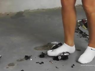 Giantess Crushes Cars In Ankle Socks