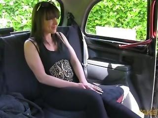 babe, britisk, brunette, utrohet, gift, taxi