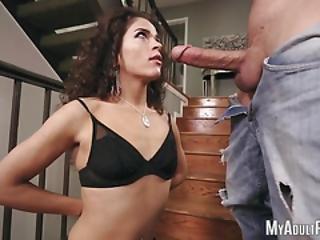 Slim Babe Victoria Voxxx Sucking A Big Dick