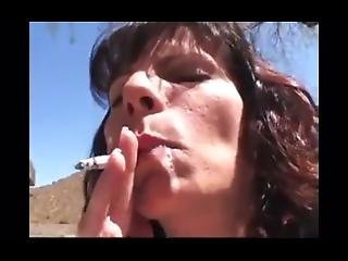 Wc Stacie Outdoor Smoking Blow Job (w Cum Play)