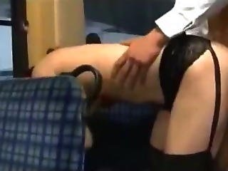 Busty Asian Girl Getting Her Pussy Fucked Facial On The Bus