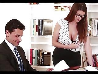 Big Tit, Lingerie, Office