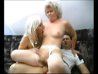 Granny Share Cream Of Some Young Guy