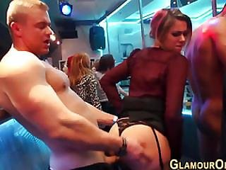 Glam Party Babe Gets Cum