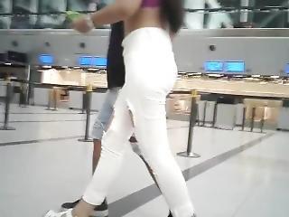Jeans, Young, Latin, Voyeur, Leggings, Perfect, Ass, Calzas, Culo Perfecto