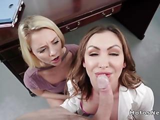 Boss Bangs Secretary With Nasty Wife