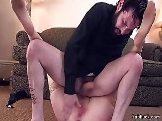 Dude Handcuffed And Anal Banged Sexy Robber