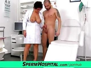Greta A Hot Big Tits Lady Doctor Gives Healthy Tug-job
