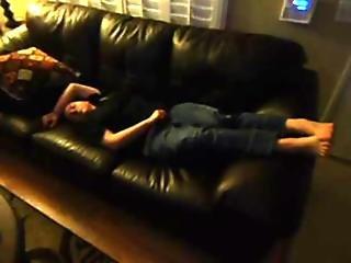 Sleeping Big Titted Girl Cummed On