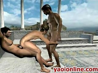 Threesome Anime Dgay Having Sex Outdoor