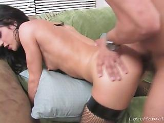 Black Haired Babe Gets Her Tight Pussy Fucked