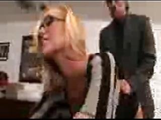 Very Hot Secretary Fucks Boss