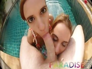 Paradise Gfs Petite Twins Get Fucked In Resort Pool Part 2