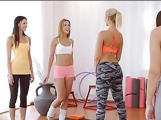 amatør, fitness, lesbisk, voyeur