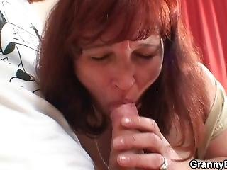 Foxy Granny In Stockings Seduced Into Hot Sex