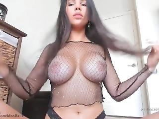 Bella Brookz Big Tits Fishnet Shirt Asmr