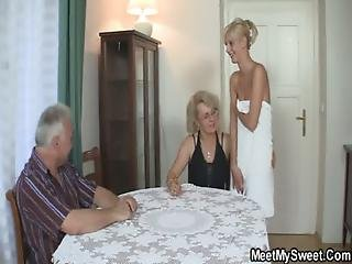 Couple, Fucking, Mature, Mom, Old, Perverted, Teen, Threesome, Wife
