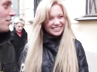 Blonde Chippy Horny Street Fucking For Money